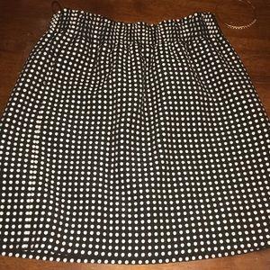 J Crew Polka Dot Skirt